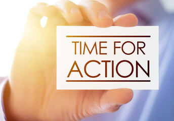 Right time for action - motivational quote