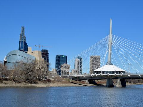 Downtown skyline of Winnipeg Manitoba Canada