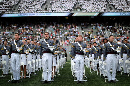 Graduation ceremonies for class of 2021 at United States Military Academy (USMA) West Point, New York