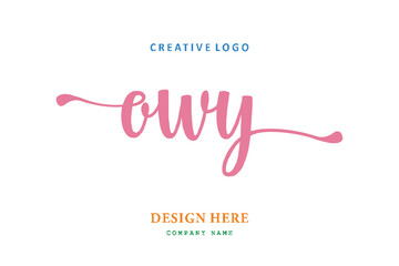 Fototapeta OWY lettering logo is simple, easy to understand and authoritative obraz
