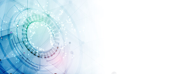 Technology data background, idea of global business solution - fototapety na wymiar