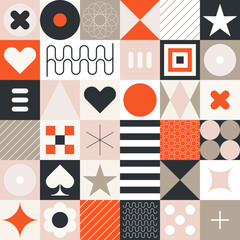 Abstract Seamless Geometric Pattern. Abstract geometric pattern. Vector flat design decorative seamless background.