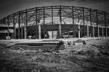 Fototapeta Budowa stadionu. obraz