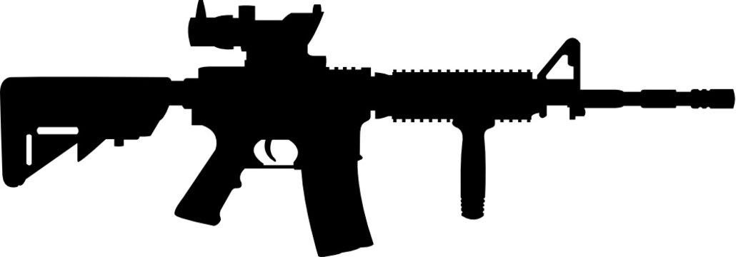 M16 Rifle Gun cut file, SVG , Cricut, Silhouette