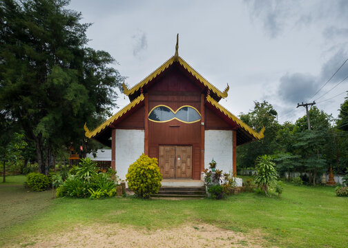 Wat Chan, buddhist temple look like ware glasses, Chiang Mai province, Thailand, 300 years ago