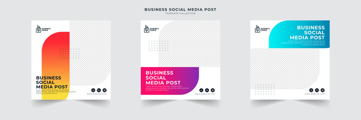 Obraz business social media post template - fototapety do salonu