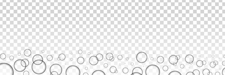 Fototapeta Vector realistic isolated bubbles for template and layout covering on the transparent background. obraz
