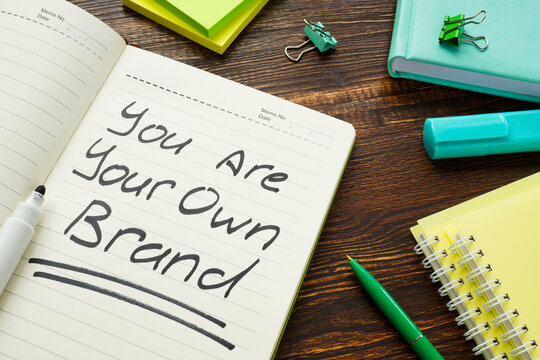 You are your own brand sign on the page.