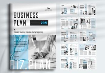 Fototapeta Business Plan Layout obraz