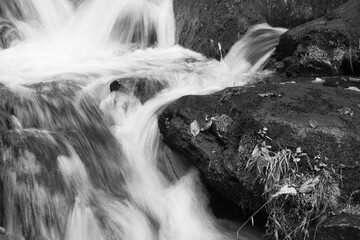 Waterfall in black and White Wall mural