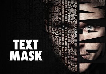 Fototapeta Text Overlay Mask Effect obraz