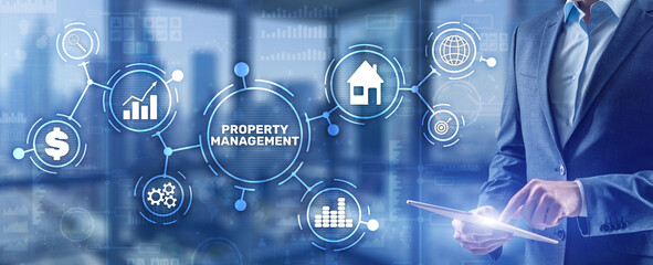 Obraz Property management. Maintenance and oversight of real estate and physical property - fototapety do salonu