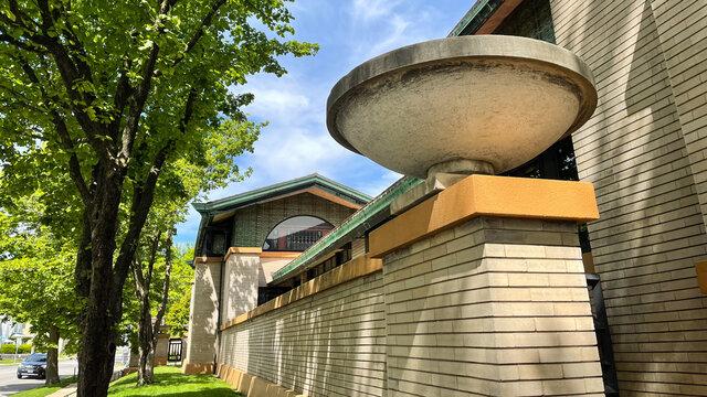 Dana Thomas House a Frank Lloyd Wright designed house in Springfield, Illinois.