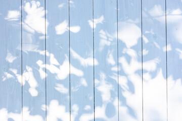 Obraz 白い板塀に映る影 - fototapety do salonu
