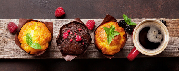 Wall Murals London Muffins and coffee