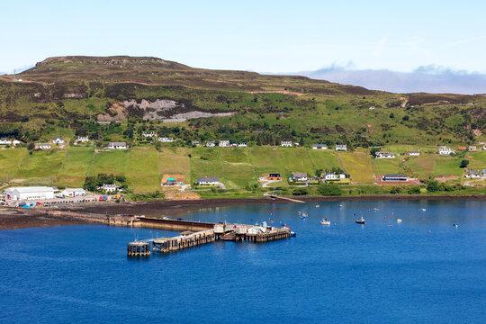 the village of Uig on Trotternish Bay on the isle of Syke in Scotland