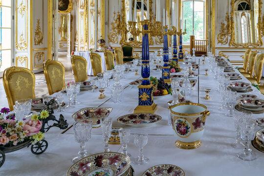 Hermitage Pavilion. Catherine Park in Tsarskoe Selo Pushkin, St. Petersburg, Russia, June 3, 2014