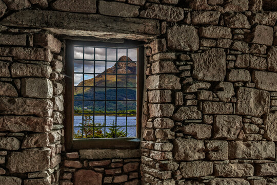 Looking out a window in the Scottish Highlands