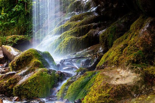 Waterfall in the Wutach Gorge in the Black Forest