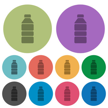 Water bottle color darker flat icons
