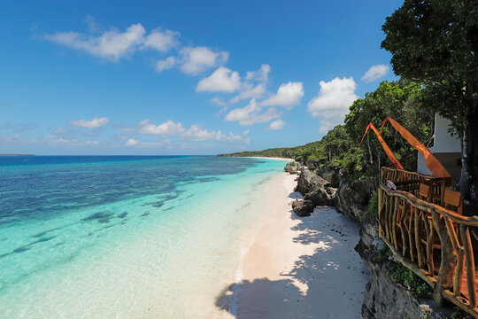 Fine white sand on Bira Beach at this resort town in the far South, 190km from Makassar, Tanjung Bira, South Sulawesi, Indonesia