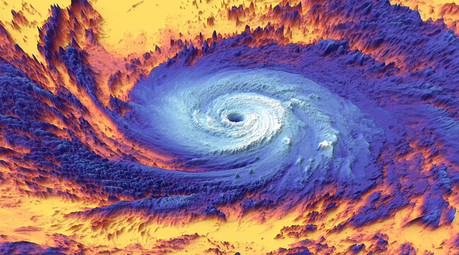 Hurricane thermal photos or Earth climate change thermal image captured. Elements of this image furnished by NASA