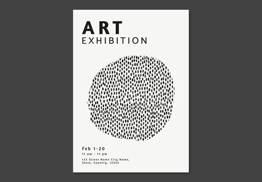 Editable Poster Layout for Art Exhibition
