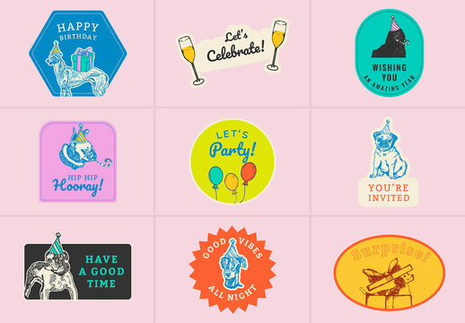 Editable Party Layout for Social Media Post