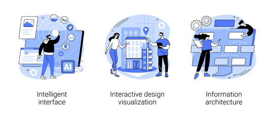 Obraz Software development abstract concept vector illustrations. - fototapety do salonu