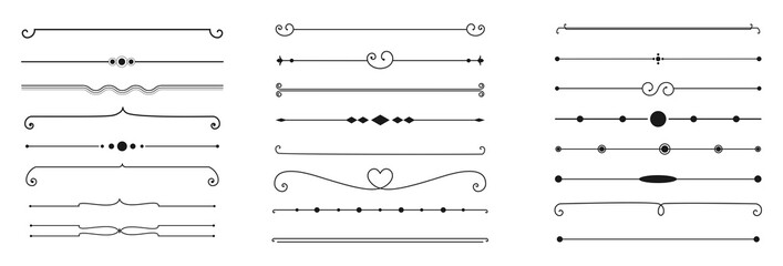 calligraphic ornamental divider collection