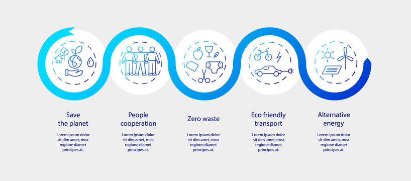 Zero waste infographic vector template. Eco friendly lifestyle visualization. Environment care