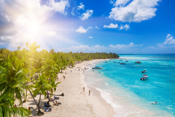 Fototapeta Tropical carribbean beach obraz