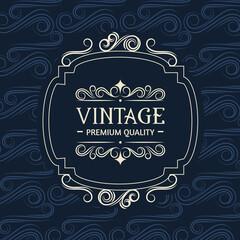 banner vintage style
