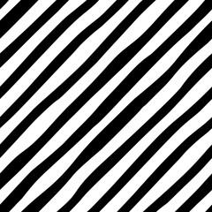 Fototapeta Black and white diagonal line seamless background. Hand drawn pattern with diagonal stripes design. Vector diagonal wallpaper. obraz
