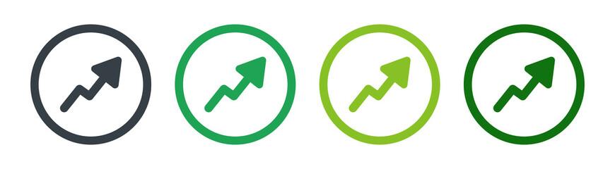 Increasing growth arrow graphic icon vector illustration - fototapety na wymiar