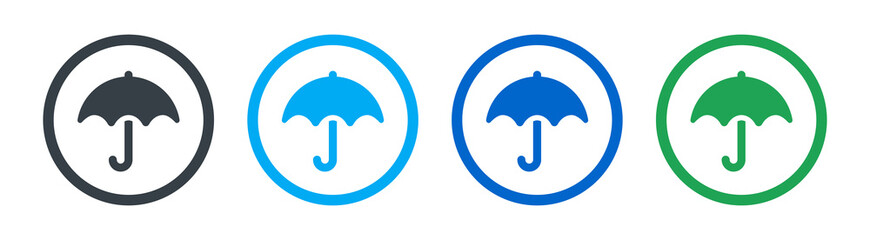 Obraz Umbrella icon on white background - fototapety do salonu