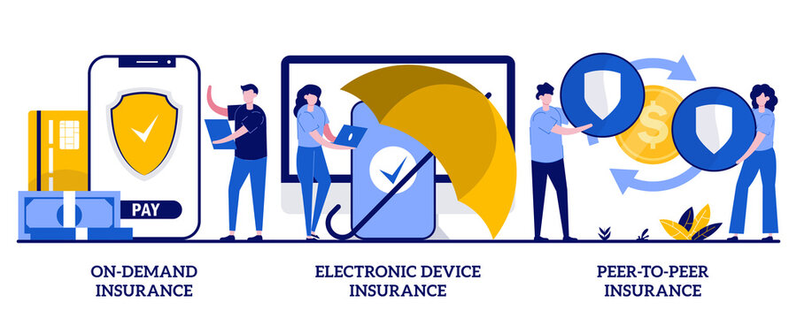 Demand Insurance Electronic Device Insurance Peer Peer Insurance Concept