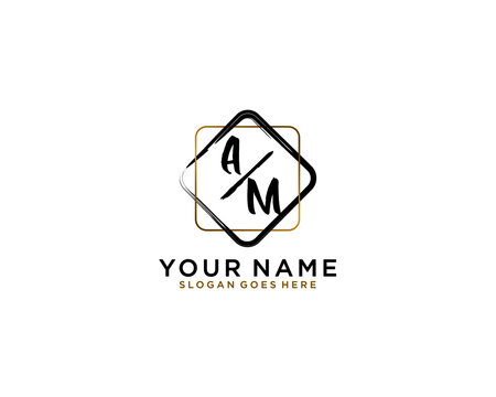 Letter AM Luxury logo design collection