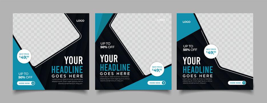 your headline here social media post banner