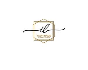 Obraz Letter IL Luxury logo design collection - fototapety do salonu