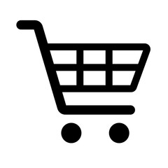 Shopping cart simple isolated icon for apps and websites - fototapety na wymiar