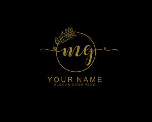 Fototapeta Letter MG Luxury logo design collection obraz