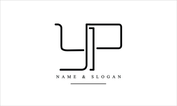 PY, YP, P, Y abstract letters logo monogram