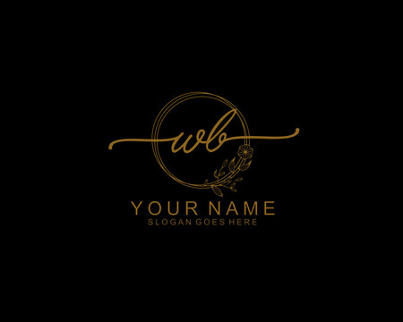 Letter WB Luxury logo design collection