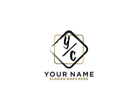 Letter YC Luxury logo design collection