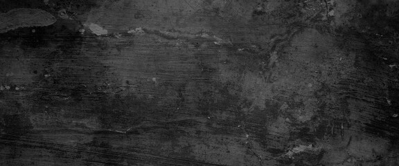 Obraz Dark cracks and wrinkled creases on old grainy paper in black watercolor background with marbled abstract painted vintage illustration - fototapety do salonu