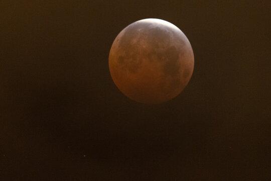 Supermoon lunar eclipse in California
