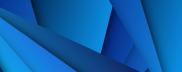 Obraz Modern 3d blue abstract background with overlap layers. Dark blue background with abstract graphic elements for presentation background design.  - fototapety do salonu