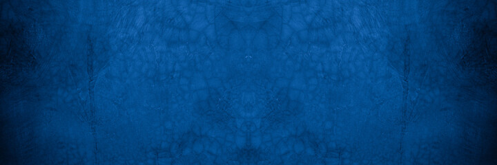 Obraz Old wall pattern texture cement blue dark abstract  blue color design are light with black gradient background. - fototapety do salonu