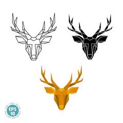 Abstract polygonal geometric deer head vector